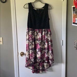 Maurice's high-low floral/lace dress